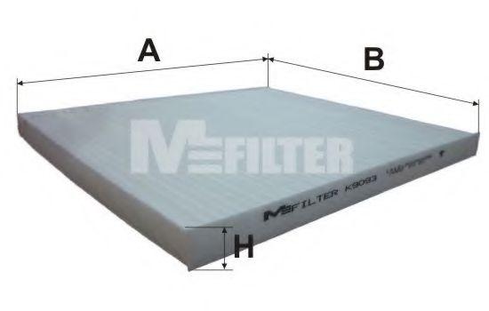 Фильтр, воздух во внутренном пространстве MFILTER арт. K9093