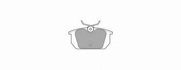 Комплект тормозных колодок, дисковый тормоз SIMER арт. 350