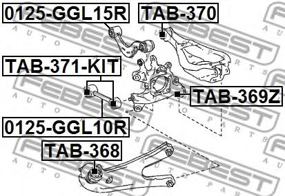 Подвеска, рычаг независимой подвески колеса FEBEST арт. TAB368