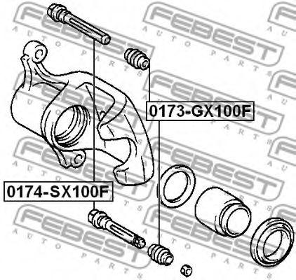 Направляющий болт, корпус скобы тормоза FEBEST арт. 0174GX100F