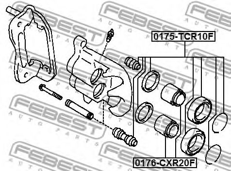 Поршень, корпус скобы тормоза FEBEST арт. 0176CXR20F