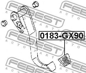 Накладка на педаль, педаль сцепления FEBEST арт. 0183GX90