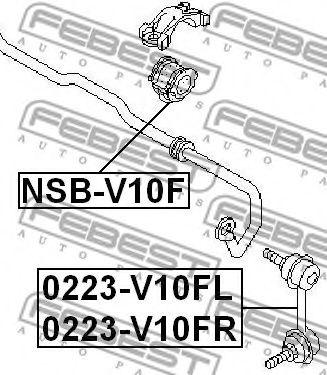 Тяга / стойка, стабилизатор FEBEST арт. 0223V10FR