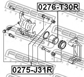 Ремкомплект, тормозной суппорт FEBEST арт. 0275J31R