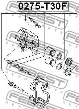 Ремкомплект, тормозной суппорт FEBEST арт. 0275T30F