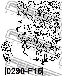 Натяжитель ремня, клиновой зубча FEBEST арт. 0290F15