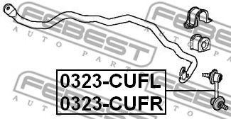 Тяга / стойка, стабилизатор FEBEST арт. 0323CUFL