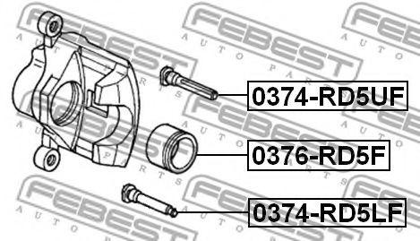 Направляющий болт, корпус скобы тормоза FEBEST арт. 0374RD5LF