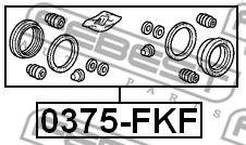 Ремкомплект, тормозной суппорт FEBEST арт. 0375FKF