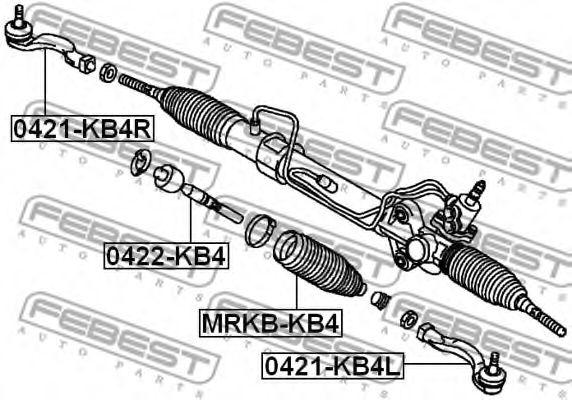 Наконечник поперечной рулевой тяги FEBEST арт. 0421KB4R