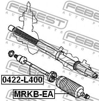 Осевой шарнир, рулевая тяга FEBEST арт. 0422L400