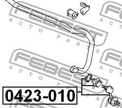 Тяга / стойка, стабилизатор FEBEST арт. 0423010