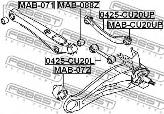 Рычаг независимой подвески колеса, подвеска колеса FEBEST арт. 0425CU20UP