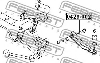 Болт регулировки развала колёс FEBEST арт. 0429002
