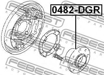Ступица колеса FEBEST арт. 0482DGR