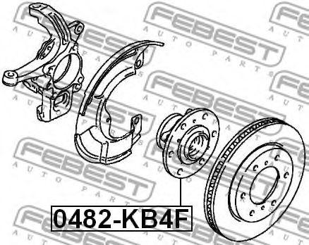 Ступица колеса FEBEST арт. 0482KB4F