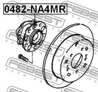 Ступица колеса FEBEST арт. 0482NA4MR