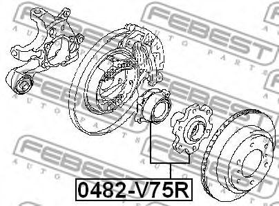 Ступица колеса FEBEST арт. 0482V75R