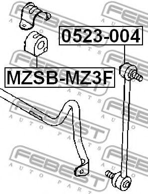 Тяга / стойка, стабилизатор FEBEST арт. 0523004