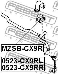 Тяга / стойка, стабилизатор FEBEST арт. 0523CX9RR