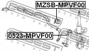 Тяга / стойка, стабилизатор FEBEST арт. 0523MPVF00