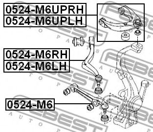 Рычаг независимой подвески колеса, подвеска колеса FEBEST арт. 0524M6