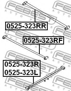 Рычаг независимой подвески колеса, подвеска колеса FEBEST арт. 0525323RF