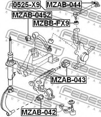 Рычаг независимой подвески колеса, подвеска колеса FEBEST арт. 0525X9