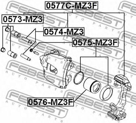 Направляющий болт, корпус скобы тормоза FEBEST арт. 0574MZ3