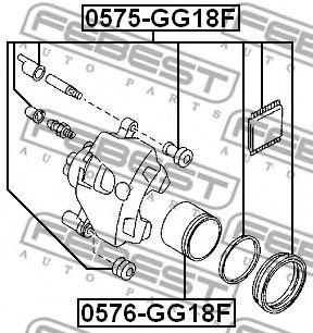 Ремкомплект, тормозной суппорт FEBEST арт. 0575GG18F