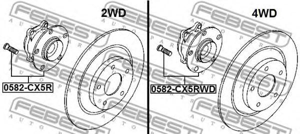 Ступица колеса FEBEST арт. 0582CX5R