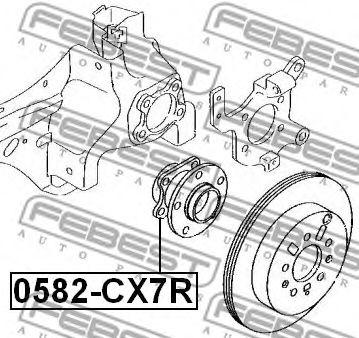 Ступица колеса FEBEST арт. 0582CX7R