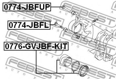 Направляющий болт, корпус скобы тормоза FEBEST арт. 0774JBFUP