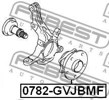 Ступица колеса FEBEST арт. 0782GVJBMF