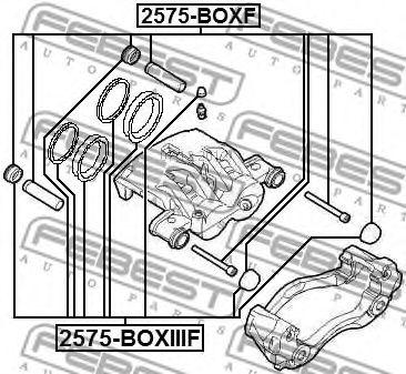 Ремкомплект, тормозной суппорт FEBEST арт. 2575BOXIIIF