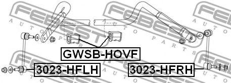 Тяга / стойка, стабилизатор FEBEST арт. 3023HFLH