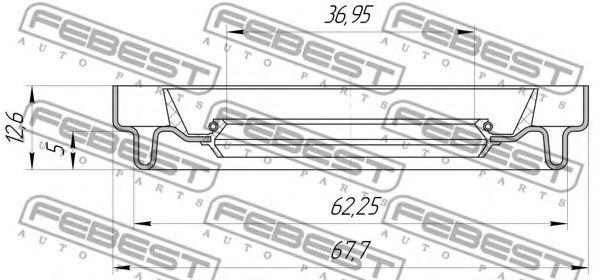Уплотнительное кольцо вала, приводной вал FEBEST арт. 95HDS38620513X