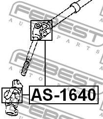 Шарнир, вал сошки рулевого управления FEBEST арт. AS1640