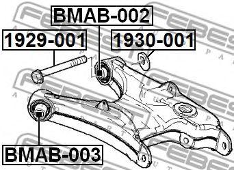 Подвеска, рычаг независимой подвески колеса FEBEST арт. BMAB002