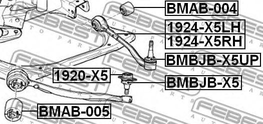 Подвеска, рычаг независимой подвески колеса FEBEST арт. BMAB005