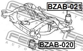 Втулка, балка моста FEBEST арт. BZAB021