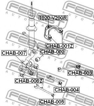 Втулка, рычаг колесной подвески FEBEST арт. CHAB006Z