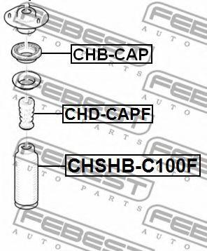 Подшипник качения, опора стойки амортизатора FEBEST арт. CHBCAP