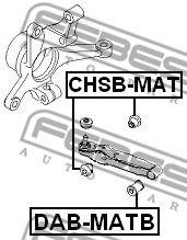Подвеска, рычаг независимой подвески колеса FEBEST арт. CHSBMAT