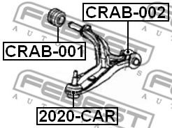 Подвеска, рычаг независимой подвески колеса FEBEST арт. CRAB001