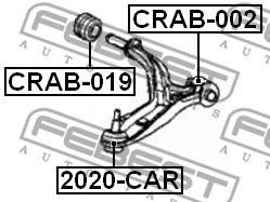 Подвеска, рычаг независимой подвески колеса FEBEST арт. CRAB019