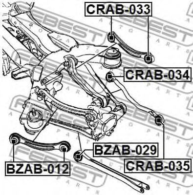 Подвеска, рычаг независимой подвески колеса FEBEST арт. CRAB034