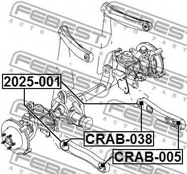 Подвеска, рычаг независимой подвески колеса FEBEST арт. CRAB038