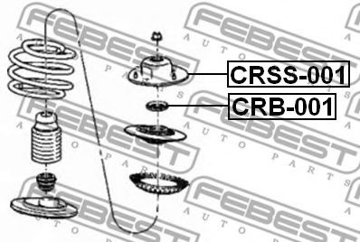 Подвеска, амортизатор FEBEST арт. CRSS001