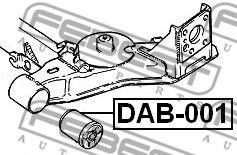 Подвеска, рычаг независимой подвески колеса FEBEST арт. DAB001